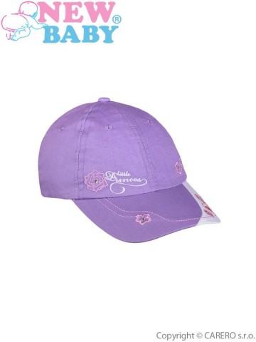Letní dětská kšiltovka New Baby Little Princess fialová