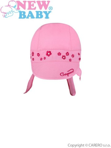 Letní dětská čepička-šátek New Baby Gorgeous růžová