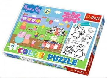 Puzzle Peppa Pig a omalovánky