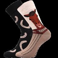 Ponožky - Kůň - velikost 43-46