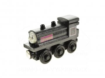 Dřevěný vláček - lokomotiva Donald 8cm