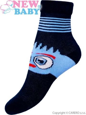 Dětské froté ponožky New Baby tmavě modré oči