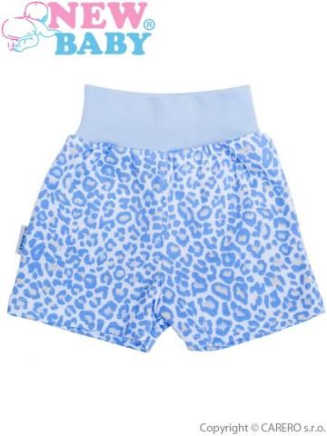 Kojenecké kraťásky New Baby Leopardík modré
