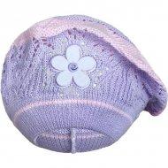 Pletená čepička-baret New Baby fialová