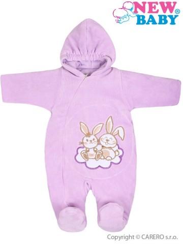 Zimný overal New Baby Bunnies fialový