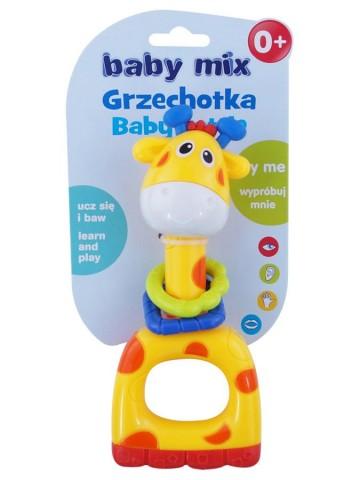 Detské hrkálka Baby Mix žltá žirafa