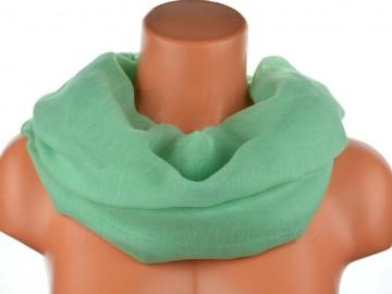Dámský jednobarevný tunelový šátek - Světle zelený