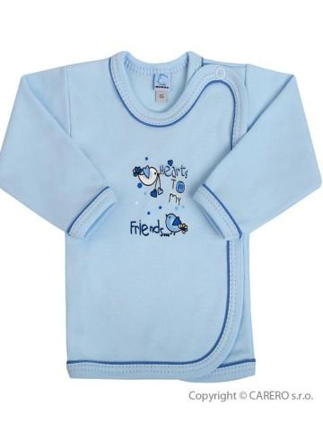 Dojčenská košieľka Bobas Fashion Benjamin modrá