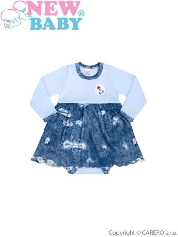 Dojčenské body so sukienkou New Baby Light Jeansbaby modré