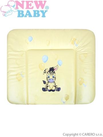 Prebaľovacia podložka mäkká New Baby Zebra žltá 85x70