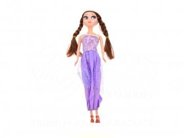 Baba lila ruhában  29cm