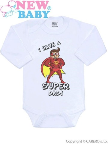 Body s potlačou New Baby SUPER FAMILY, SUPER DAD