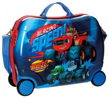 Dětský kufřík na kolečkách Blaze and the Monster Machines Race MAXI