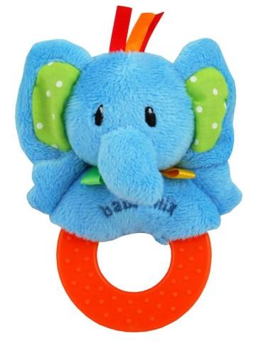 Detská plyšová hrkálka Baby Mix slon