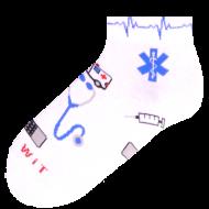 Ponožky - Zdravotnictví nízké - velikost 39-42