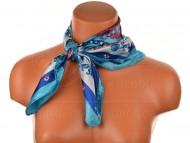 Malý šátek s královskou bordurou, 55x55cm - modrý
