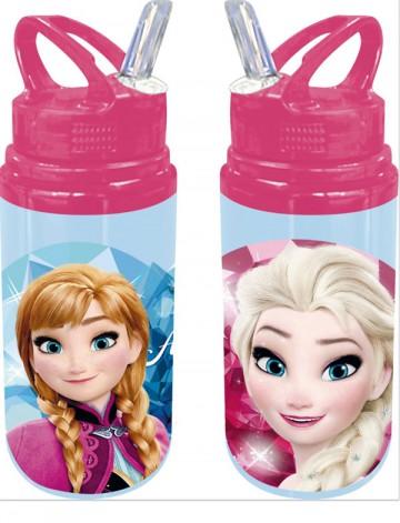 ALU láhev s brčkem Ledové Království modrá 500 ml