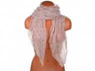 Letní šátek s motivem květů, 170x75cm - růžový