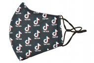 Textilní rouška - TikTok, celopotisk