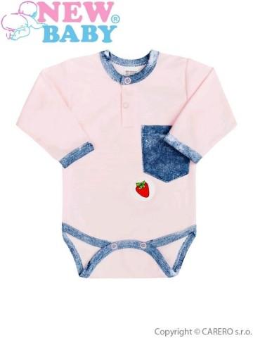 Kojenecké body New Baby Light Jeansbaby růžové