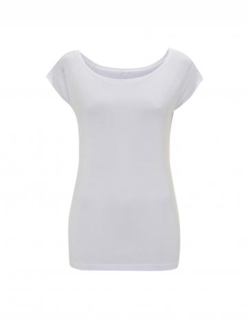 Dámské bambusové tričko, raglanový rukáv - bílé, 1 ks - velikost XL