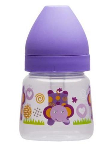 Fľaša so širokým hrdlom Akuku 125 ml fialová