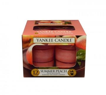 Yankee Candle čajové svíčky 12 x 9,8g Summer Peach