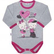 Dětské body s dlouhým rukávem New Baby Love Mouse