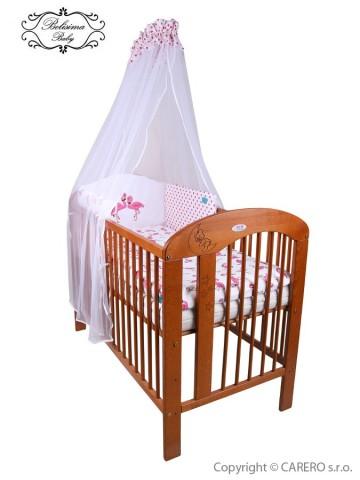 6-dielne posteľné obliečky Belisima Plameniák 90/120 ružové