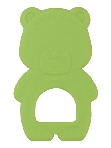 Chladiace hryzátko Baby Mix medvedík zelený