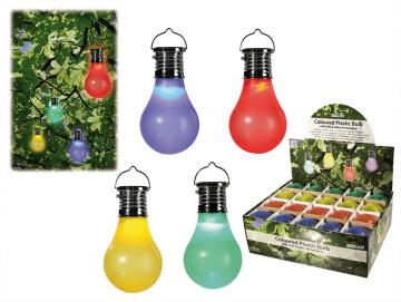 Solární plastová žárovka s LED