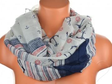 Jednobarevný letní šátek - modrošedý