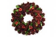Vánoční věnec (33cm) - Červený