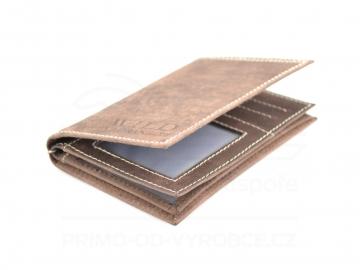 Pánská dokladová peněženka Wild by Loranzo - hnědá [6919]