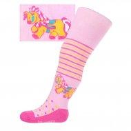 Pamut harisnyanadrág New Baby rózsaszín lovacskával