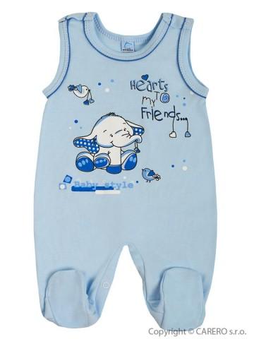 Dojčenské dupačky Bobas Fashion Benjamin modré