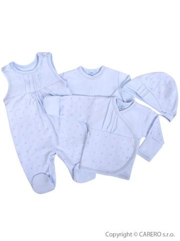 4-dílná kojenecká souprava Koala Amorek modrá s hvězdičkami