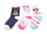 Dětské ponožky Minnie - 3 páry, velikost 23-26