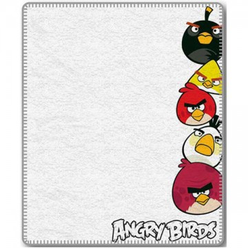 Fleece pléd Angry Birds White 120/150