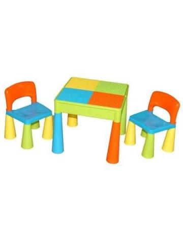 Dětská sada stoleček a dvě židličky multi color