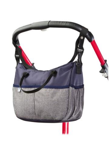 Taška na kočárek CARETERO Deluxe navy-grey