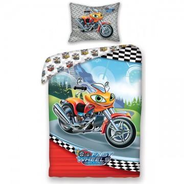 Povlečení Fast Wheel Club Motorka 140/200, 70/90