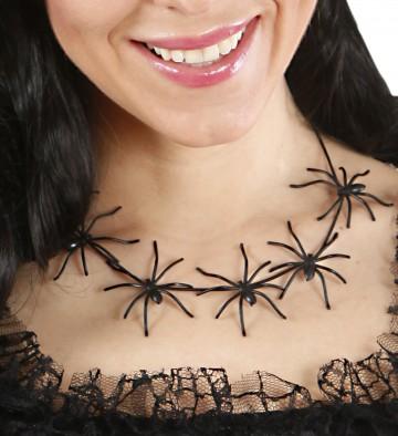 Krátký náhrdelník s pavouky