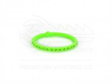Náramek gumový s kamínky - zelený