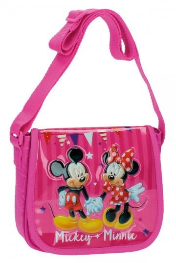 Kabelka s chlopní Mickey a Minnie party 17 cm