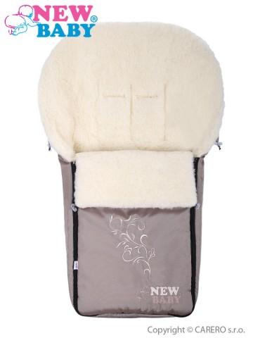 Luxusný fusak s ovčím rúnom New Baby bežový