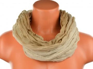 Dámský tunelový šátek v odstínech jedné barvy - hnědý