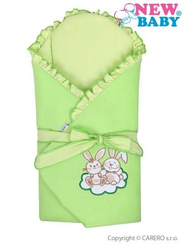 Zavinovačka s výstužou New Baby Bunnies zelená