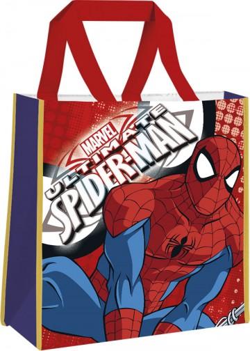 Dětská nákupní taška Spiderman červená 38 cm