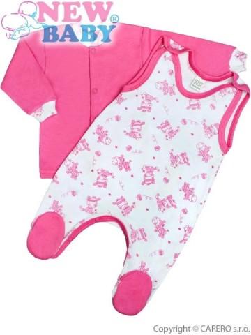 2-dielna dojčenská súprava New Baby Zebrababy II ružová